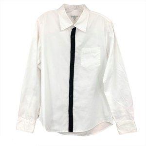 Yohji Yamamoto Mens 2 M White Button Down Shirt